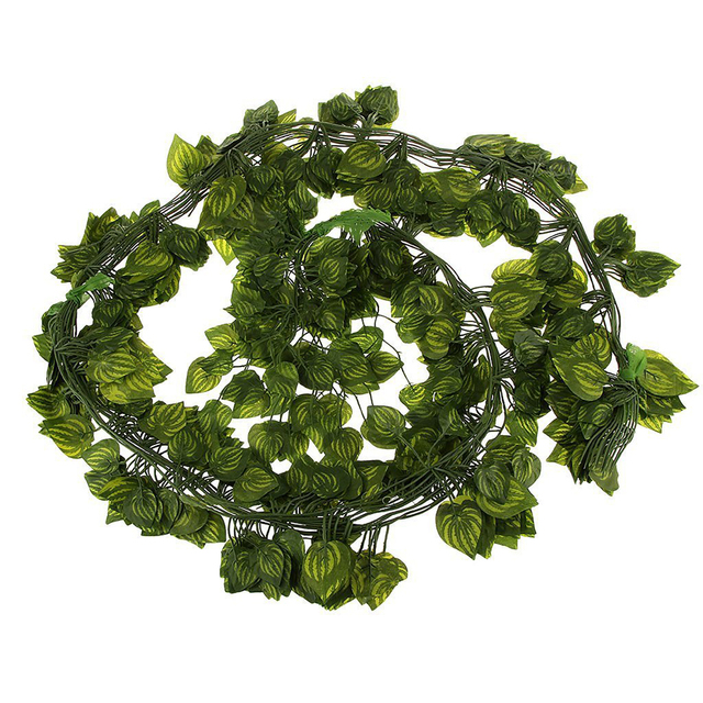 12pcs 6.5ft artificial wall hanging ivy vine foliage leaf garland 6 Foot Fake Plants