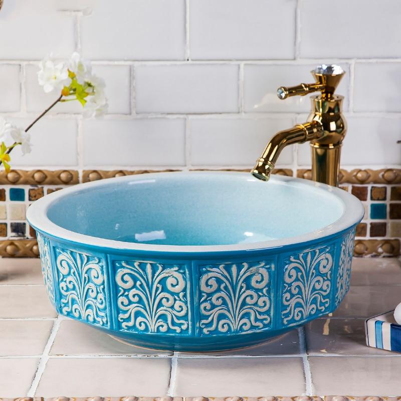 Lavabo Ceramica Per Bagno.Stile Cinese Lavabo Ceramica Fine Bagno Lavabo Lavandino Del Bagno