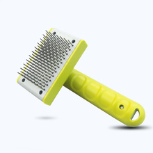 Stainless Steel Pet Comb Dog Grooming Tool Open Knot Comb for Dog Cat Hair Cleaning Needle Comb Push Hair Removal Dog Brush pet hair deshedding dog cat brush comb sticky hair gloves hair fur cleaning for sofa bed clothe pets dogs cats cleaning tools