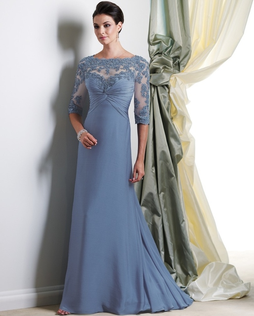Full Length Gowns Dress for Mother of the Bride Lace Dresses Bridal ...