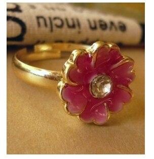 1835502bd352 G214 moda al por mayor nuevos caliente Rosa Flores esmalte joyería Accesorios  para las mujeres y los hombres de la vendimia