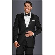 2017 Hot Sale Costume Homme Smoking Custom Made Men Tuxedos Wedding Suits For 2-piece Groomsmen Slim Fit Grooms (jacket+pants)