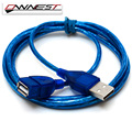 OWNEST OWNEST USB V 2.0 Extender Extension A Male to Female Cable Wire Lead Plug Socket clear blue 1m,1.5m,2m,3m