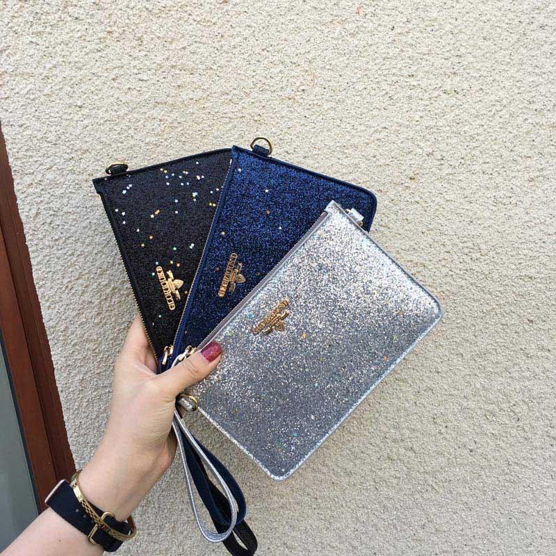 2018 Mode Mädchen Messenger Kupplung Tasche Handtasche Pailletten Umschlag Kupplung Kette Casual Bag Bs88 Profitieren Sie Klein