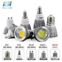 GU10 светодиодный E27 лампа E14 Точечный светильник накаливания с регулируемой яркостью lampara 220V 110V GU10 bombillas светодиодный MR16 gu5.3 лампада led точечный светильник, 5 Вт, 7 Вт, ZDP0001