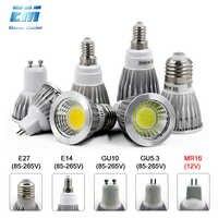 GU10 LED E27 lámpara E14 bombilla de foco regulable lampara 220V 110V GU10 bombas led MR16 gu5.3 lámpara de Punto 5W 7W ZDP0001