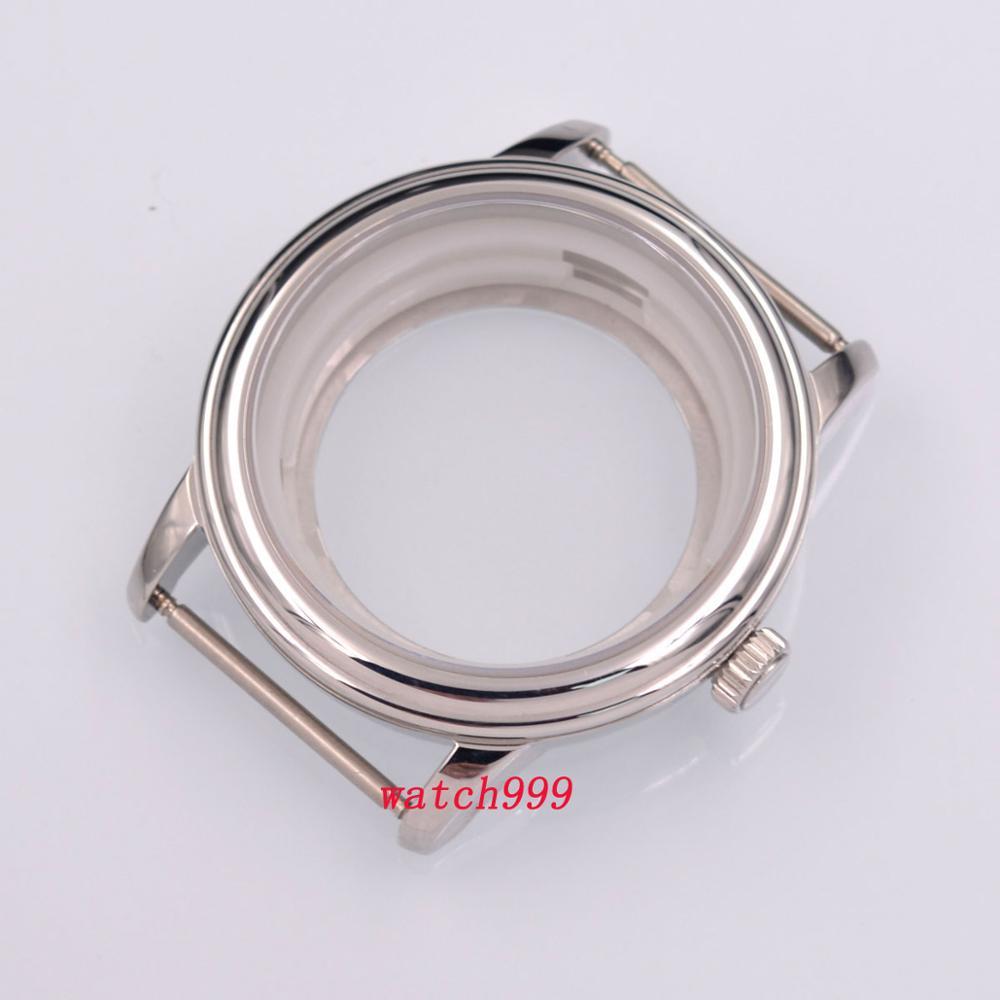 40mm Sapphire Crystal Watch Case Solid Steel ETA 2824 2836 Miyota 8215 821A Movement DG2813