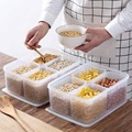 5 шт./компл. контейнеры для хранения продуктов  пластиковая коробка для риса  контейнер для крупы органайзер для холодильника чехол для сохр...