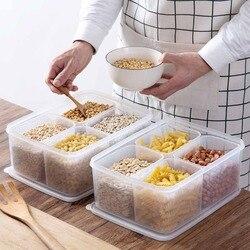5 sztuk/zestaw pudełka pojemniki do przechowywania żywności pudełko plastikowe ryż pojemnik na zboże lodówka organizator Case do przechowywania owoców mięso ryby świeże w Butelki  słoiki i pudełka od Dom i ogród na