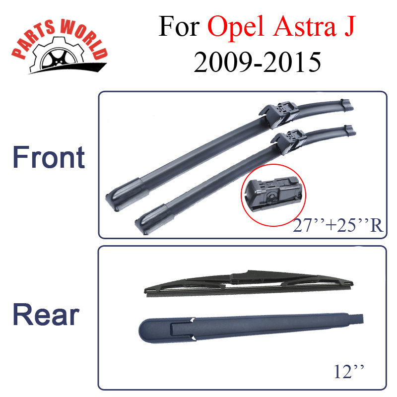 Front And Rear Wiper Blades For Opel Astra J 2009 2010 2011 2012 2013 2014 2015 Rubber Windshield Car Accessories