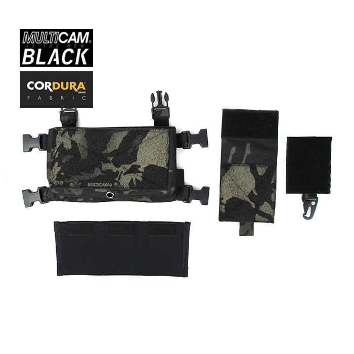 TMC Multicam Black Micro Chest Rig Front Panel Chassis Magazine Pouch Set(SKU051248)