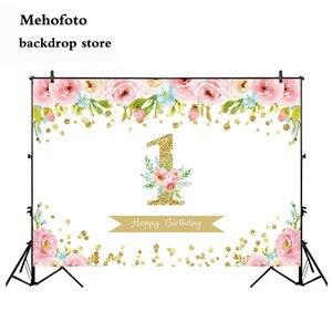 Декорация для первого дня рождения Neoback, фон для фотосъемки новорожденных детей, фон для фотосъемки с цветами, украшение для вечеринки 398