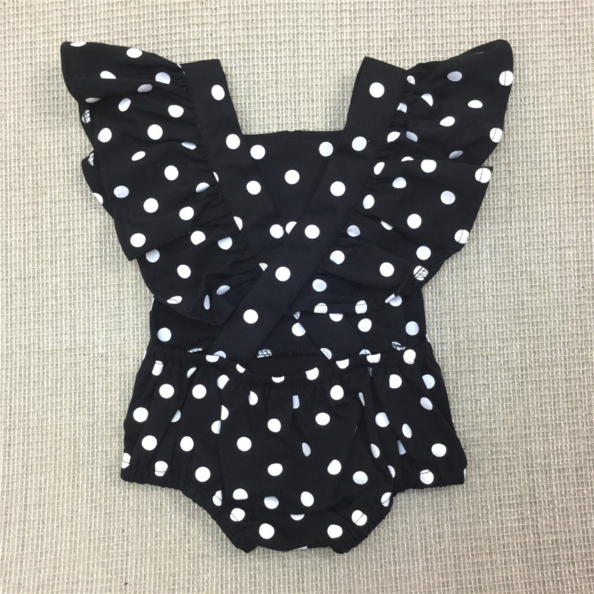 468bdde7938 Baby Girls Dot Romper Newborn Summer Spring Cotton Ruffle Sleeve Jumper  Toddler Fashion Jumpsuit 0 2Yrs 2019 New 30-in Bodysuits from Mother   Kids  on ...