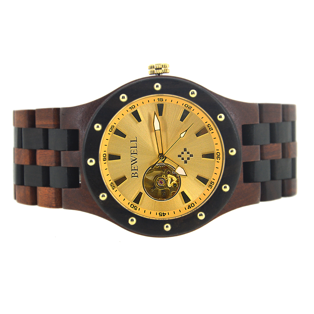 BEWELL Casual Top Luxury Brand Men Relojes Mecánicos Reloj de - Relojes para hombres - foto 4