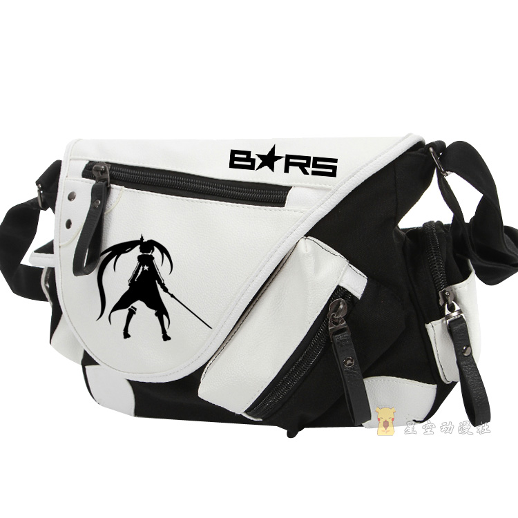 Anime BLACK ROCK SHOOTER Cosplay Animation men and women shoulder bag BRS patent leather canvas Messenger bag free shipping hot heat resistant party hair 120cm long black rock shooter black anime cosplay wig 2clip on ponytail