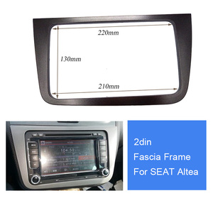 Car Radio Fascia 2 din Frame For seat altea 2din (LHD) Left and Right Hand Drive dash mount kit adapter trim Bezel facia stereo(China)