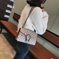 Bag female bag 2019 new wave Korean version of the wild chain net red with the same paragraph fashion retro Messenger bag