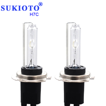 SUKIOTO 75 W 100 W H7C 6000 K metalowa podstawa ksenonowe H7C 40 MM żarówki ksenonowe H7C 4300 K 5000 K 6000 K 8000 K reflektorów samochodu stylizacji akcesoria tanie i dobre opinie 12 v 75W 100W H7C 4300K 5000K 6000K 8000K HID Headlight Bulbs h7c SUKIOTO H7C xenon HID bulbs 40MM Single Xenon Light H7C H7CR