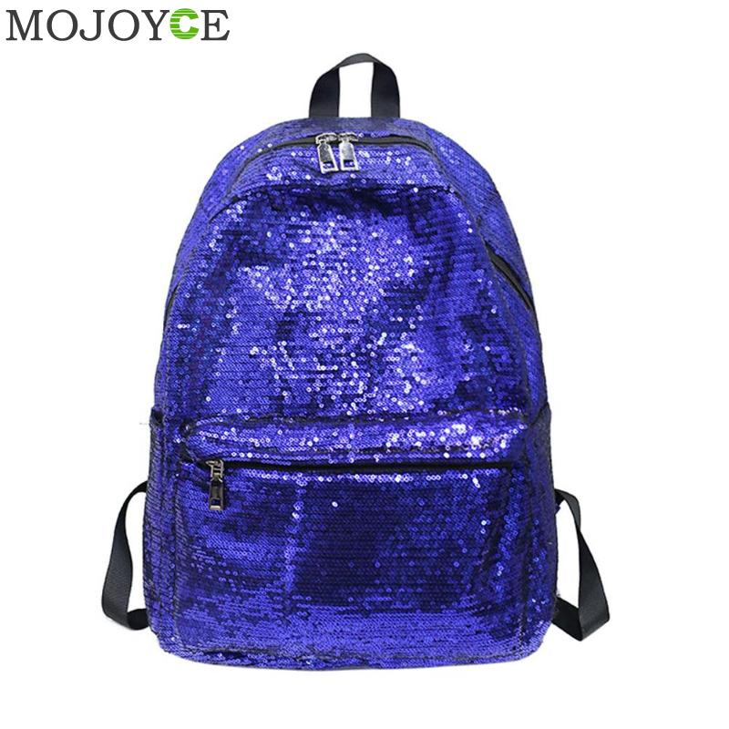 Shining Sequins Women Backpacks Fashion Brand School Bags for Teenager Girls Shoulder Bag Large Size female Travel Daypack 2018