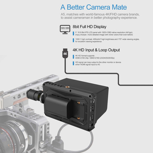 Image 3 - ליליפוט A5 שידור צג עבור 4 k מלא HD מצלמת וידאו & DSLR עם 1920x1080 ברזולוציה גבוהה 1000:1 ניגודיות יישום
