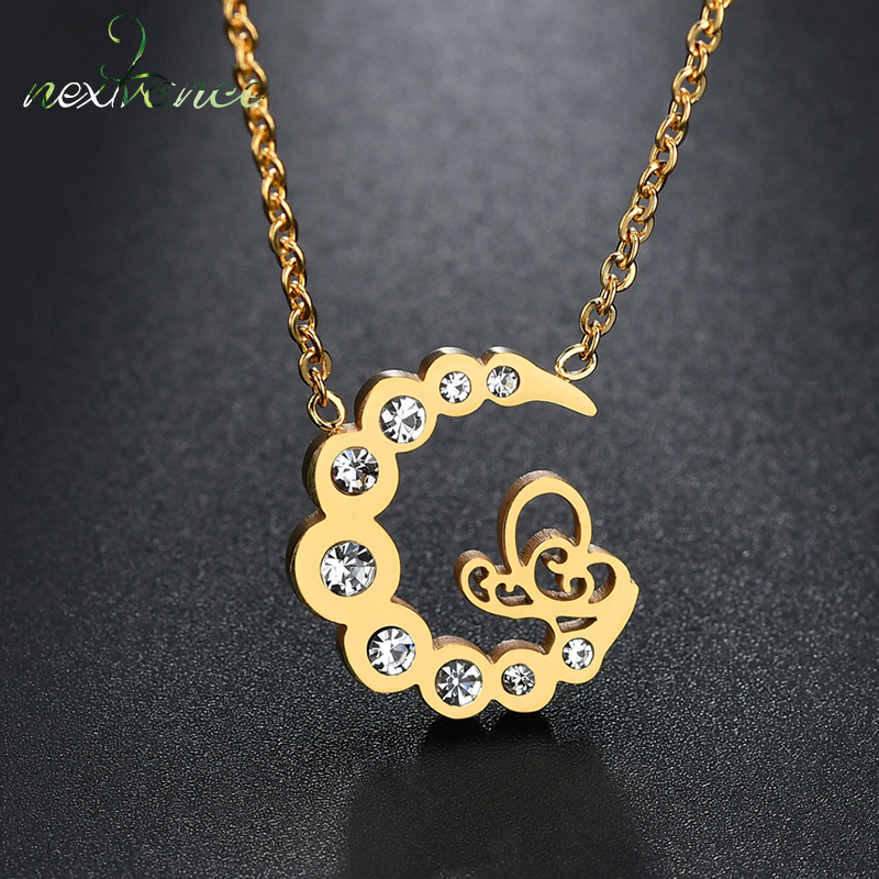 Chain Necklaces Necklaces & Pendants Obliging Nextvance Curved Cz Moon Pendant Necklace Bohemian Horn Crescent Choker Necklace Wedding Party Jewelry Collar