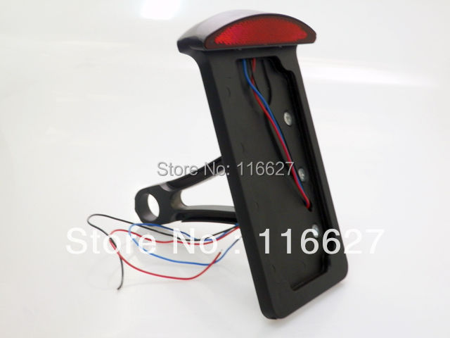 Sportster Dyna Bobber Chopper Cruiser café livraison gratuite noir LED plaque d'immatriculation verticale montage latéral feu arrière pour Harley