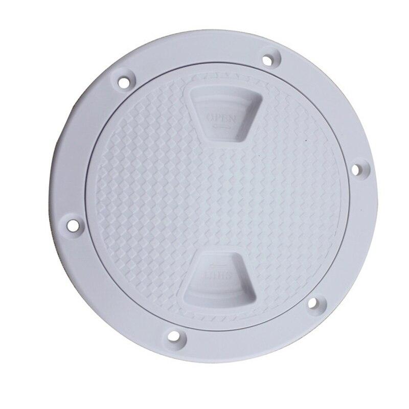 Image 2 - 4 pulgadas/6 pulgadas/8 pulgadas de plástico InchPlastic barco marino redondo RV cubierta de la escotilla tornillo blanco de la cubierta de inspección de la placa de la gota de envíoHerramientas náuticas   -