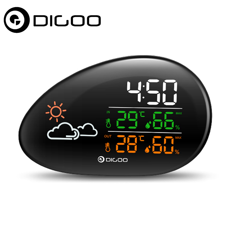 digoo dg ths01 smart home lying stone clock weather station weather forecast outdoor indoor. Black Bedroom Furniture Sets. Home Design Ideas