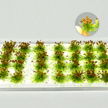 Mini Diy Model Flower Cluster Grass Tuft Wild Rose For Diorama Building Road Landscape Layout Material