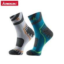 Оригинальные Брендовые спортивные носки Kawasaki для бега, велоспорта, баскетбола, фитнеса, дышащие мужские носки из хлопка, предотвращающие запах ног