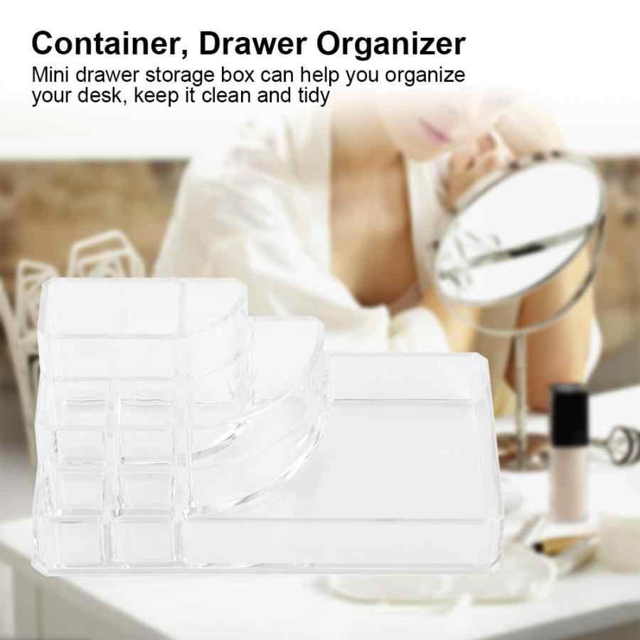 Transparent Acrylic Makeup Storage Box Dresser Cosmetics Lipstick Eyeshadow Lip Brush Organizer Eyebrow Pencil Makeup Container