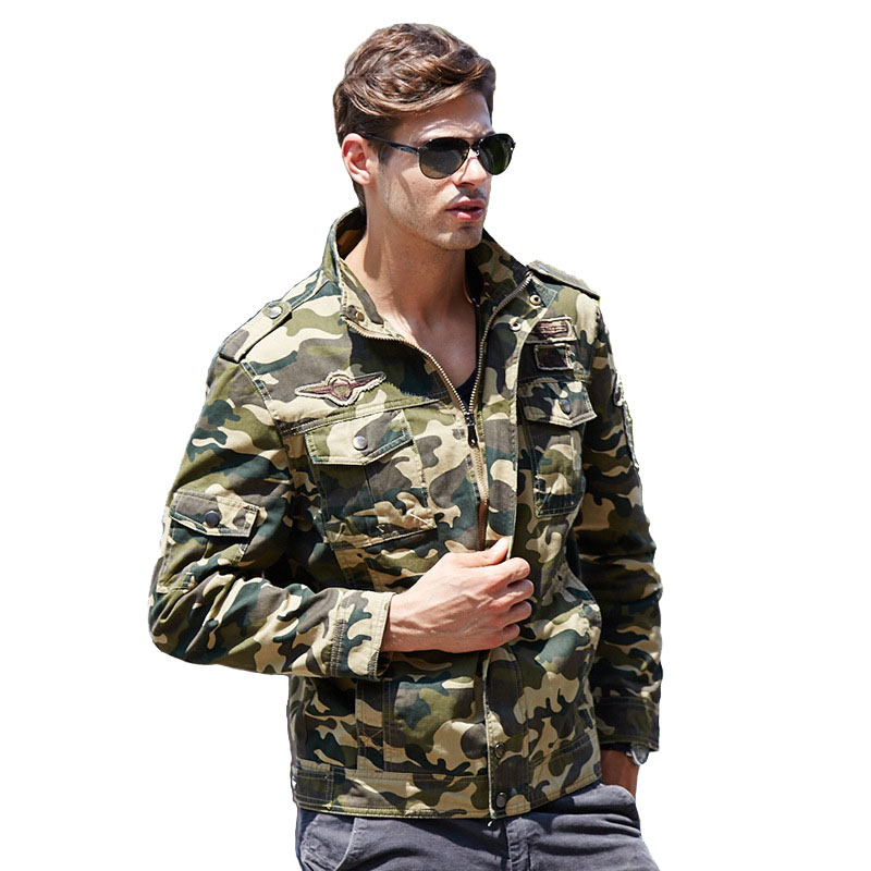 Camo Jacket Men Military Army Tactical Bomber Jacket Air Force Tactical Windbreaker Mens Casual Coat Keep Warm Camouflage Jacket lurker shark skin soft shell v4 military tactical jacket men waterproof windproof warm coat camouflage hooded camo army clothing