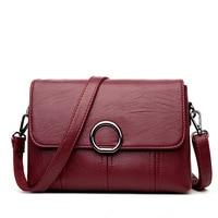 Women Bag Handbags Solid Leather Messenger Shoulder Bag High Quality Women Crossbody Bags Female Totes Handbags