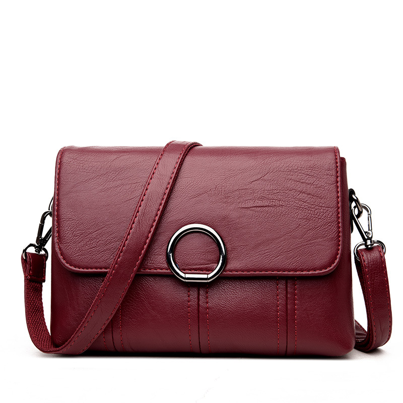 Women Bag Handbags Solid Leather Messenger Shoulder Bag High Quality Women Crossbody Bags Female Totes Handbags Bolsas Femininas