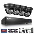 SANNCE 4CH AHD CCTV Security DVR System HDMI 720 1200TVL Weatherproof Outdoor CCTV Camera 1.0MP AHD Surveillance Kit
