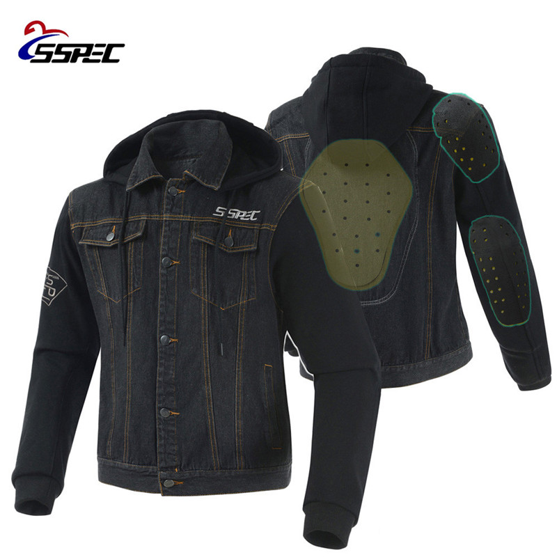 Motorcycle Jacket 2018 Spring Summer Men Denim Jacket Windproof Moto Motorbike Jean Jackets Chaquetas Outerwear With Protectors-in Jackets from Automobiles & Motorcycles    1