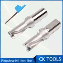 ZD03 14 мм-32 мм SP MG05 060204 тип сверла для 3D U сверления мелкое отверстие Индексируемые вставные сверла