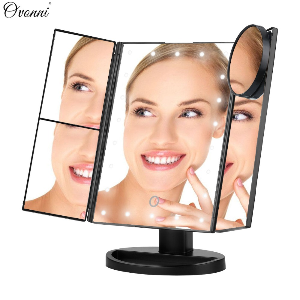 Ovonni Vanity Makeup Mirror 22 Led Lighted Touch Screen 1x