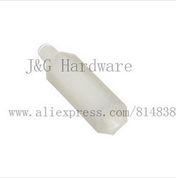 M2.5 Spacers PCB Standoff Nylon Screw Hex Nut Off-White / Black Male to Female Plastic Parts