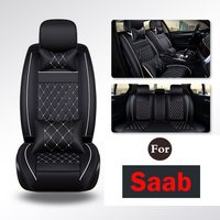 Motor Trend Gift Pack Premium Leatherette Car Seat Covers & Mats Set For Saab D20 D50 D60 D70 Cc D80 X65 X55 X25