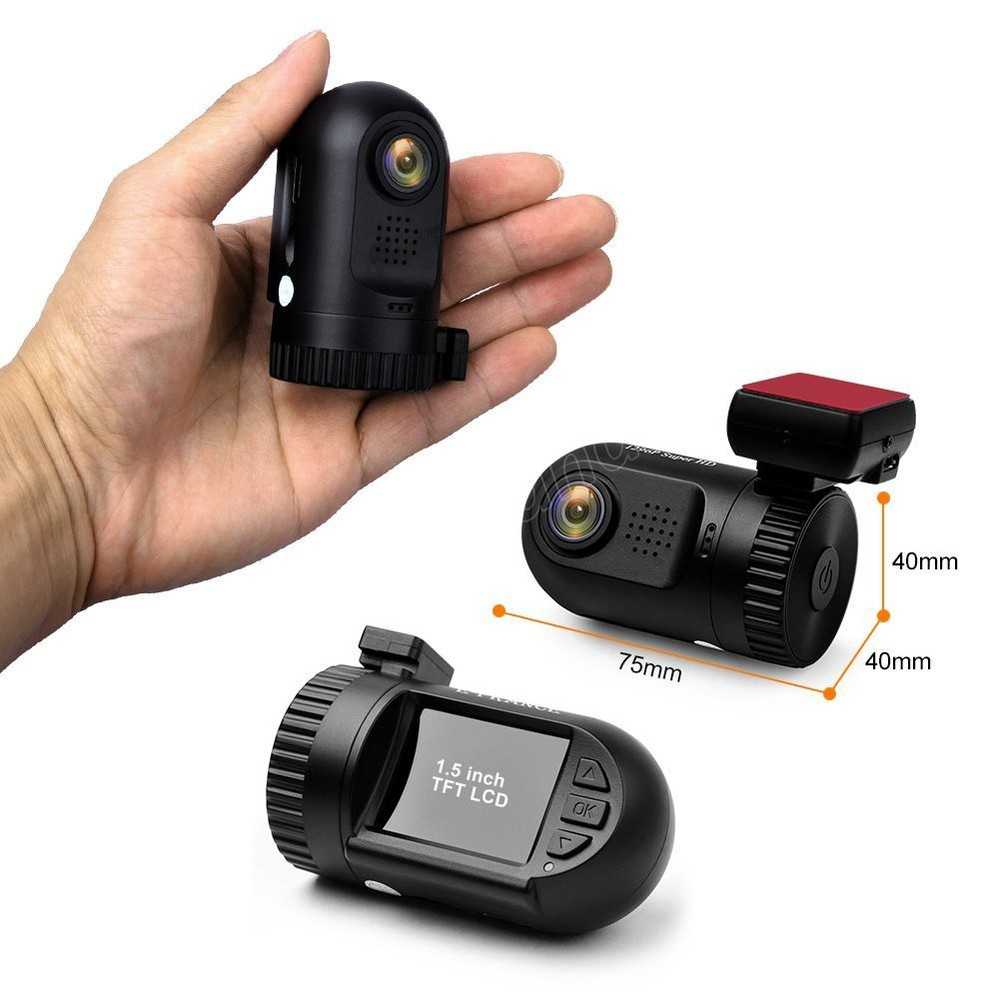 DVR 1296 P voiture DVRs Dash Cam GPS Mini 0805 pour enregistreur vidéo 1.5 pouces voiture DVR Ambarella A7 puce g-sensor GPS