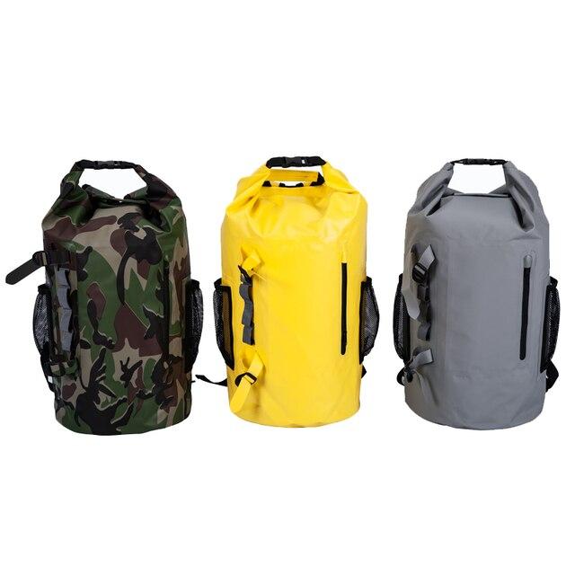 Waterproof Dry Backpack Beach Bag Sport Bag Swimming Sack Camping Rafting  Nylon Bags Travel for 30L 4f98f57ceacab