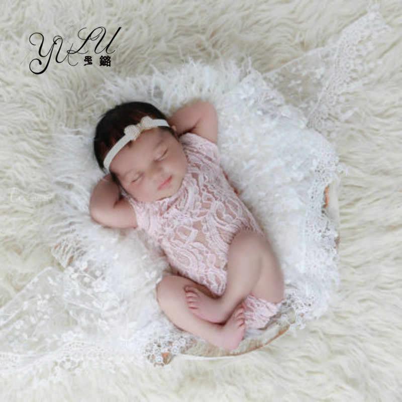 7 цветов кружева для новорожденных Детское платье Boho шаровары для маленьких девочек ползунки новорожденных фотографии реквизит Детские фотографии Bebe Fotos