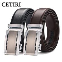CETIRI hombres cinturones de diseño hombres de alta calidad de vaca de cuero  genuino hebillas automáticas trinquete para hombres. 80838b0db7b6