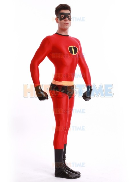 Spandex Mr Incredible Superhero Costume Halloween Cosplay The Incredibles Costumes the most classic zentai suit free shipping  sc 1 st  Aliexpress & Online Shop Spandex Mr Incredible Superhero Costume Halloween ...