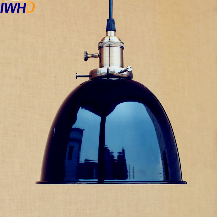 Black Loft Style Industrial Lighting Fixtures Dinning Room Lampen Edison Suspension Luminaire Vintage Pendant Lamp Hanging Light