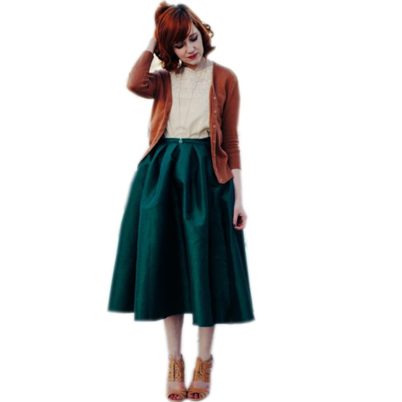 Compare Prices on Dark Green Midi Skirt- Online Shopping/Buy Low ...