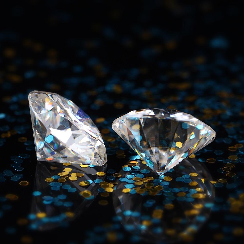DovEggs 1 Pièce Diamètre 8mm F Couleur Moissanite Lâche Pierre Coeurs et Flèches Cut Moissanite Diamant pour Fabrication de Bijoux