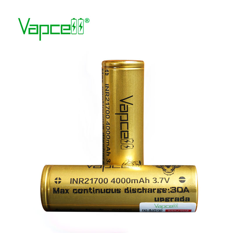 Image 5 - 2pcs VAPCELL INR21700 21700 battery 4000mAh rechargeable battery lithium battery 30A Upgrade electric tool smoke mod BATTERYRechargeable Batteries   -