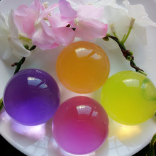 Funny Gift Souvenir Accessories Kids Birthday Party Favors Pearl Shape Soft Ball Crystal Soil Kids Toy